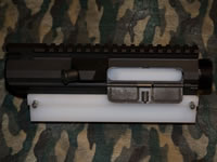 "Assemble 308 AR Upper, Start by mounting the 308 Upper in the DPMS ""Claw"""