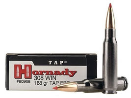 Hornady TAP Personal Defense Ammunition 308 Winchester 168 Grain Polymer Tip Point