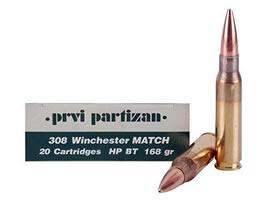 Prvi Partizan Ammunition 308 Winchester 168 Grain Match