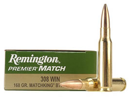Remington Premier Match Ammunition 308 Winchester 168 Grain Sierra MatchKing Hollow Point