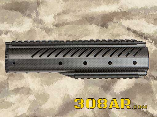 PICTURE OF A CHRISTENSEN ARMS CA-10 CARBON FIBER AR-10 308 AR MID-LENGTH HANDGUARD