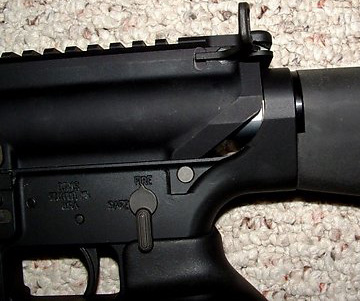 Picture of an Armalite AR-10 Upper Installed on a DPMS Lower