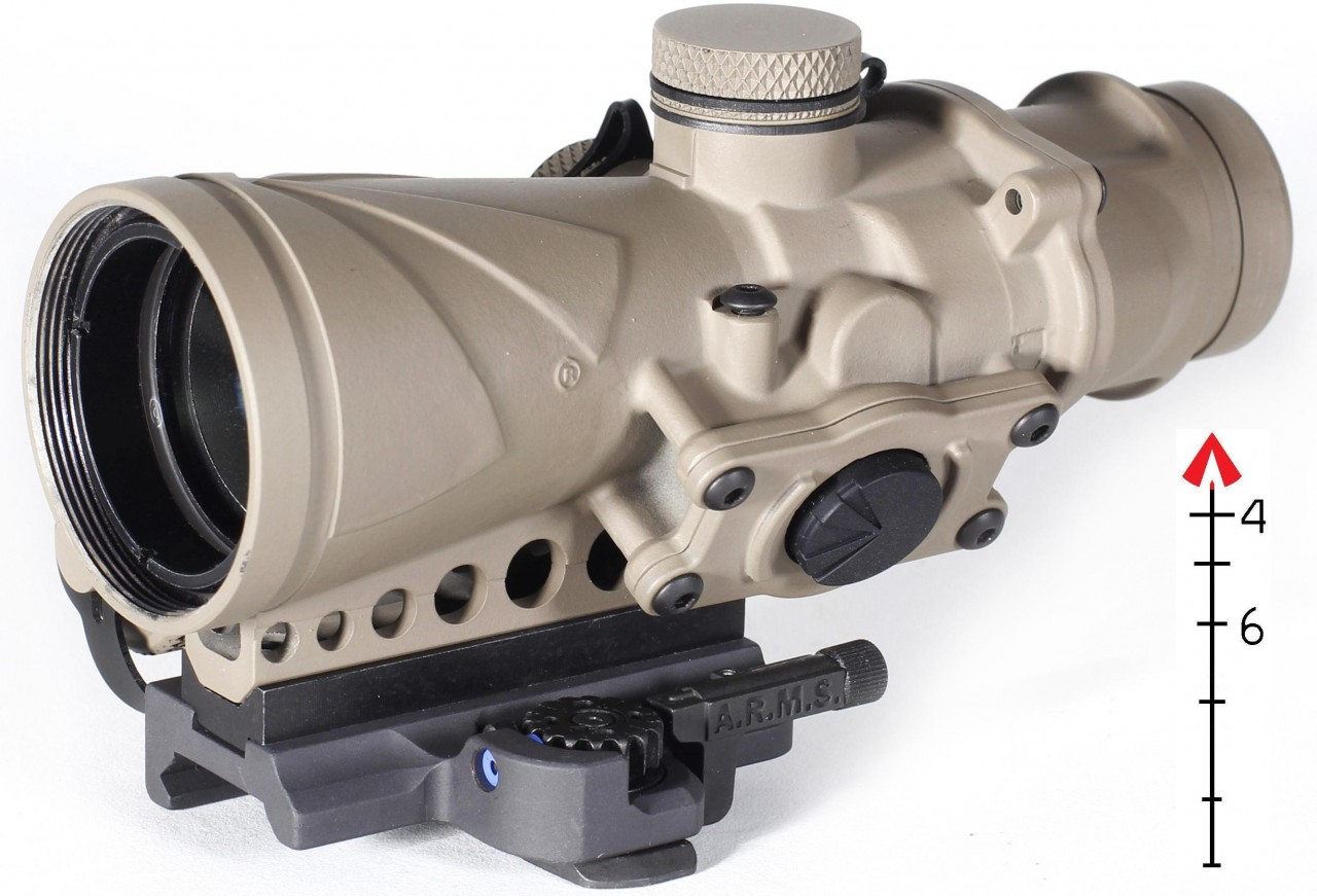 AR-10 A4 UPGRADE SCOPE-BROWE BCO COMBAT OPTIC FDE 65281BROWE BCO-002