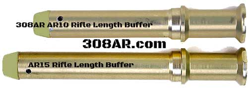 AR15 Rifle Buffer vs AR10 Buffer Picture