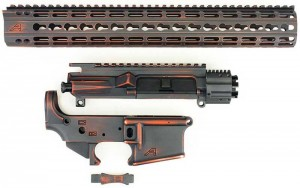 Aero Precision Battleworn Orange Grey AR15 Builder Set APPG100025 www.308ar.com