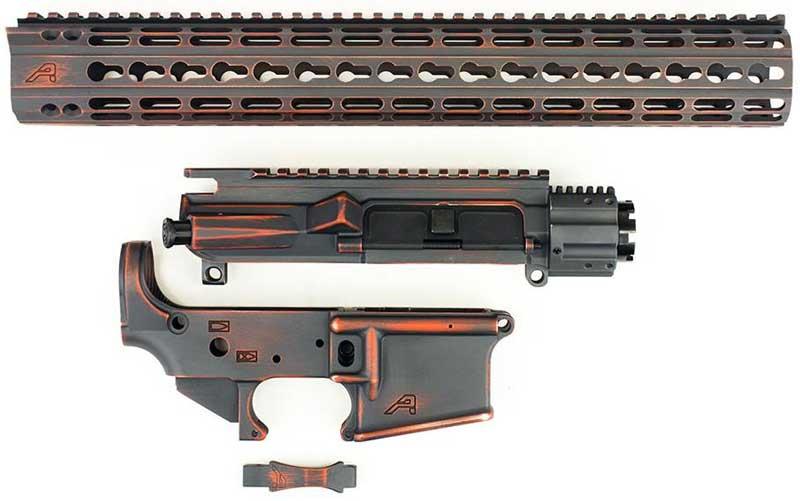 Aero Precision Battleworn Orange Grey AR15 Builder Set APPG100025 www.308ar.com