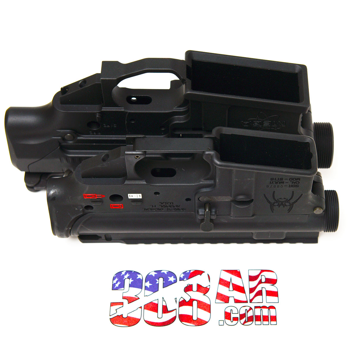 AR-15 Lower Receiver Visually Compared to a 308 AR Receiver