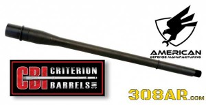 American Defense Manufacturing ADM Nitride Coated 308AR Barrels