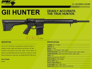 DPMS GII HUNTER 308AR AR308 AR-10