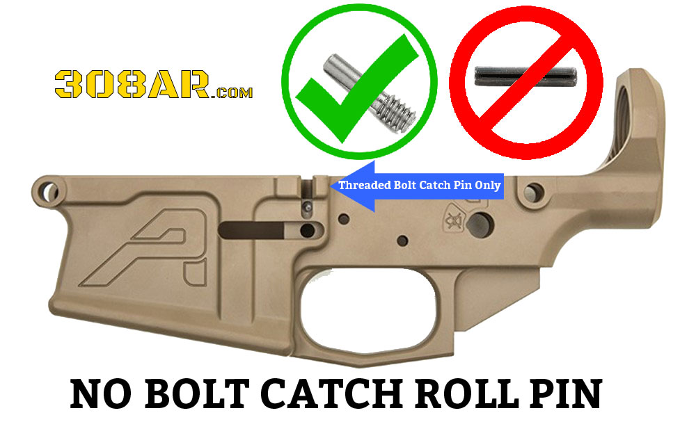 Picture of a 308 AR Bolt Catch Screw Bolt Catch Pin