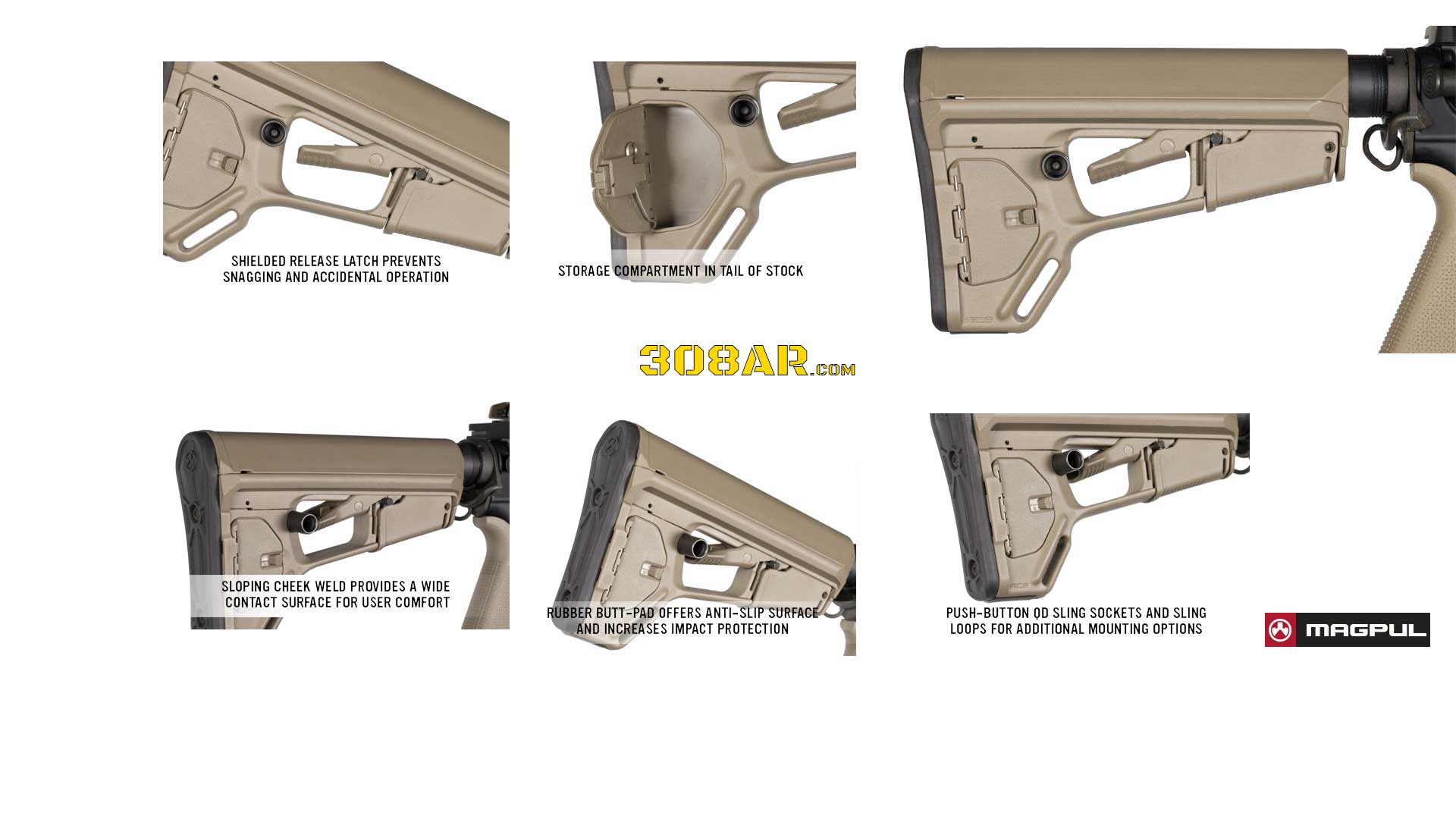 MAGPUL ACS-L STOCK FLAT DARK EARTH-AR-10 A4 Upgrade