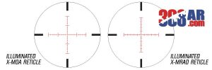 NIKON BLACK X1000 6x14x50SF 308 AR SCOPE RETICLE OPTIONS