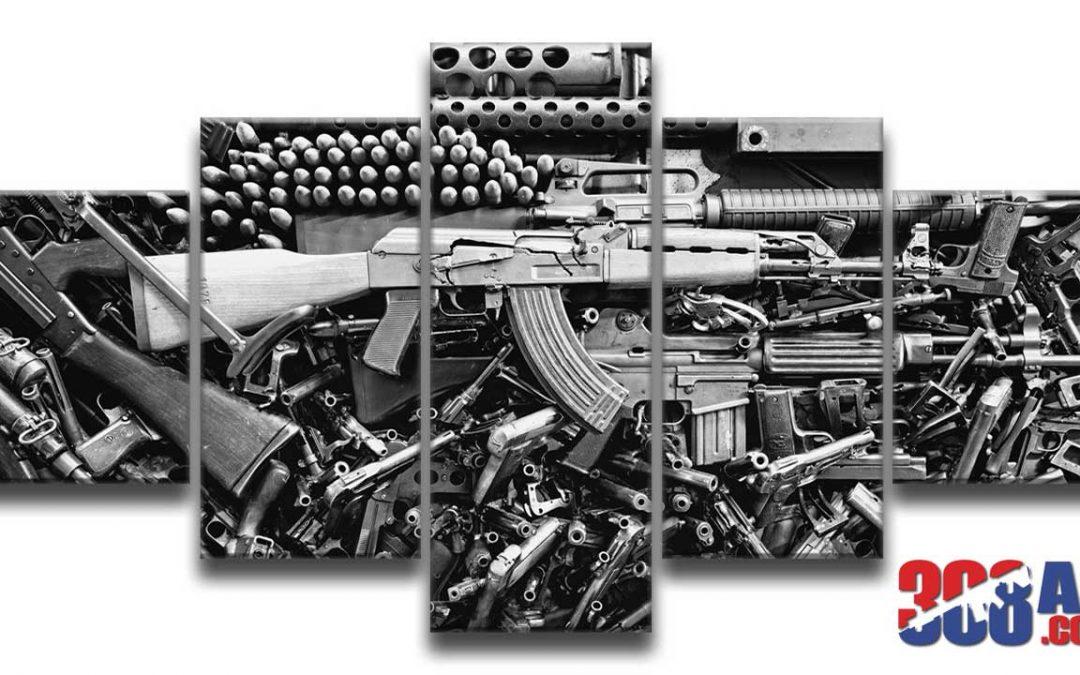 Gun Wall Art AK 47 | AR-15 Wall Art | FN FAL