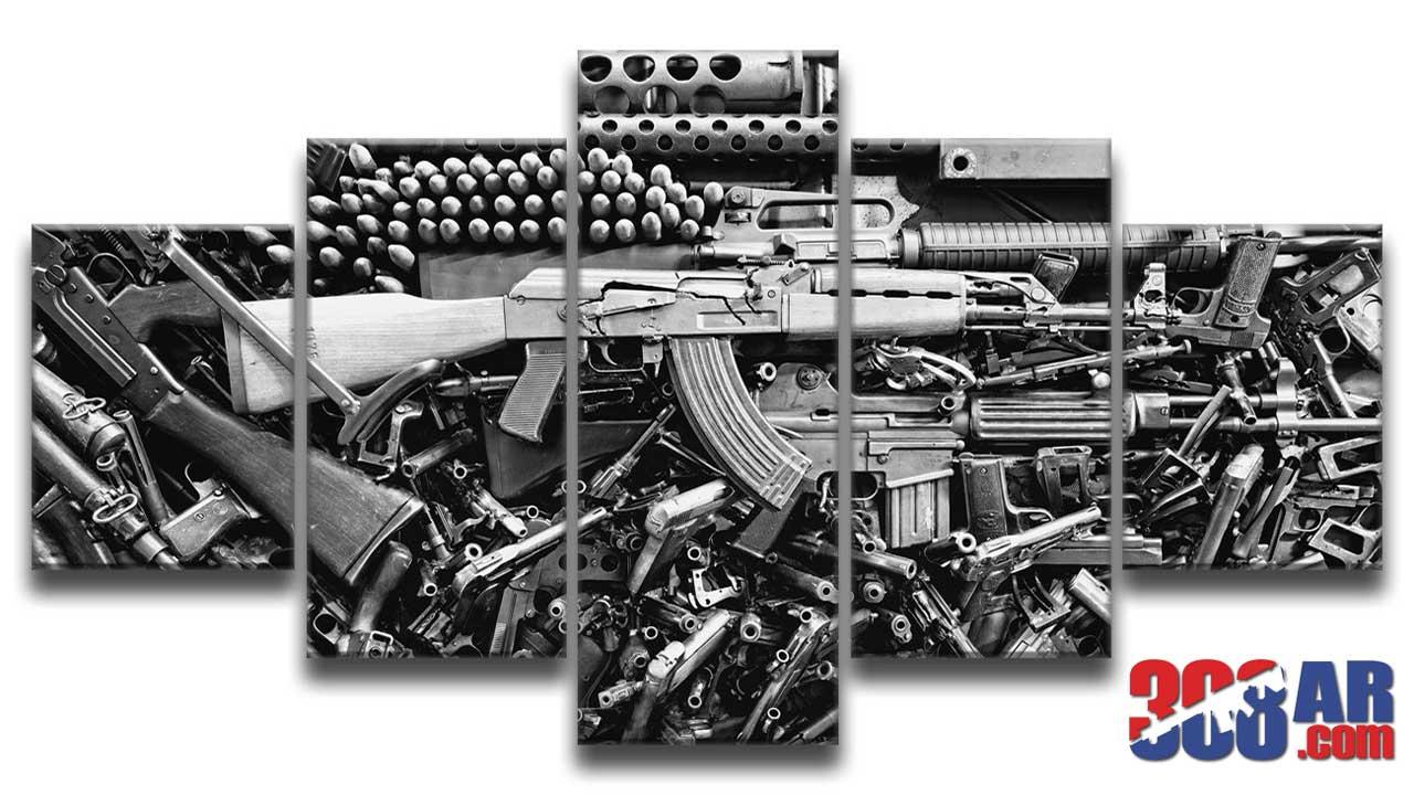 Gun Wall Art AK 47