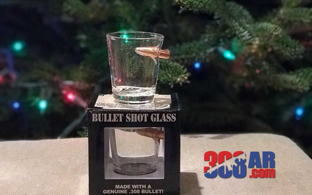 Lucky Shot Bullet Shot Glass (Great Gift For Shooters)