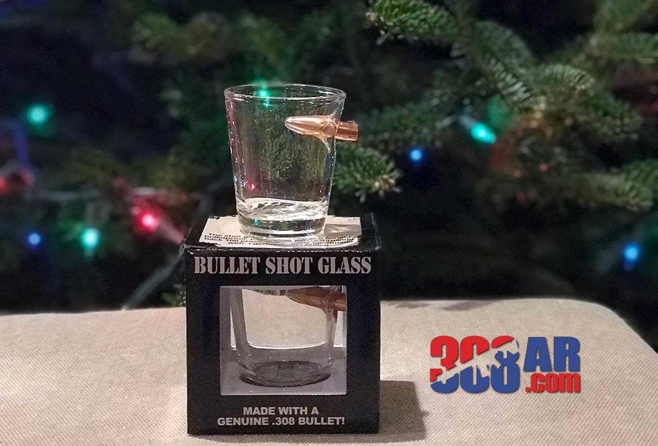 Lucky Shot Bullet Shot Glass Real 308 Bullet