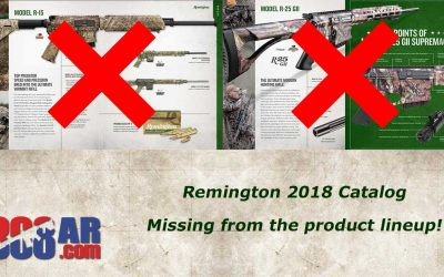 REMINGTON REMOVES R15 and R25 G2 from Product Lineup 2018