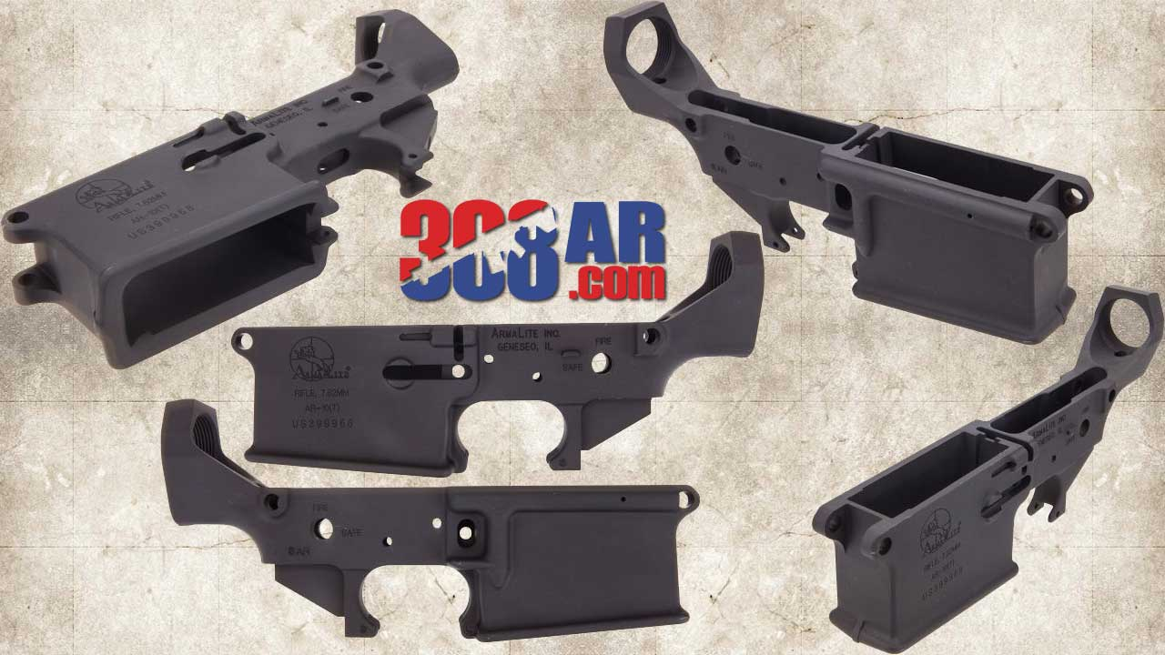Picture of an ARMALITE AR-10 STRIPPED LOWER RECEIVER (B-Series) SKU:EA0901G