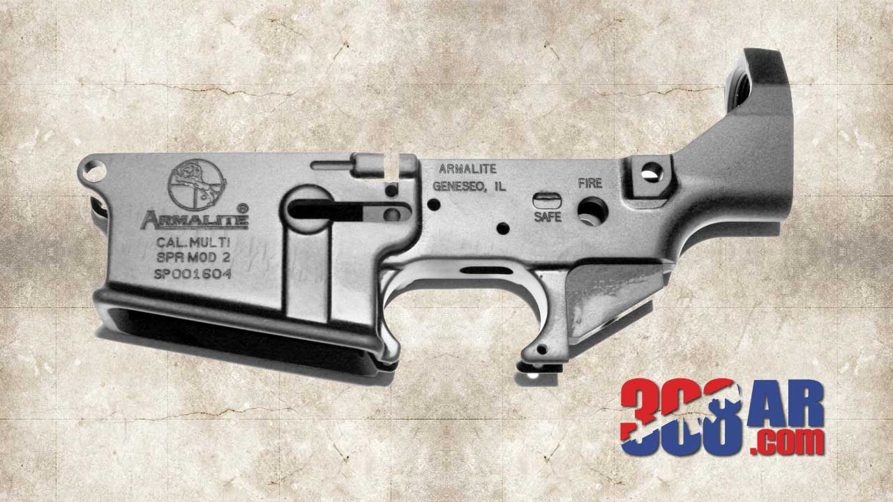 Picture of an ARMALITE AR-10 STRIPPED LOWER RECEIVER (A-Series) SKU:EA0901AG