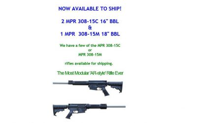 Olympic Arms MPR 308 Rifles Available