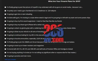 Poll-What Are Your Firearm Plans 2019