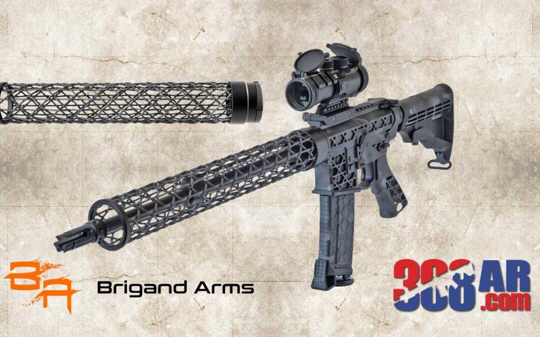 Lightweight Brigand Arms Edge .308 AR Carbon Fiber Handguard