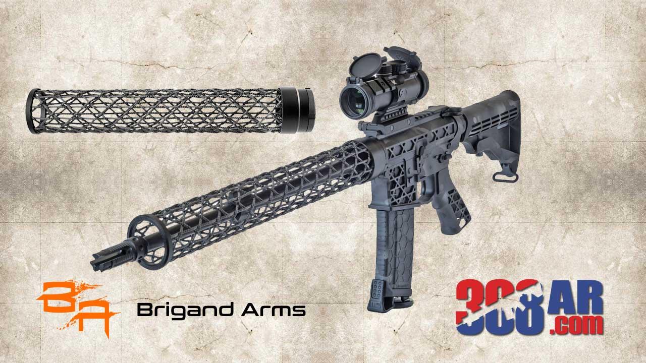 Picture of a Brigand Arms Edge AR-10 Carbon Fiber Handguard